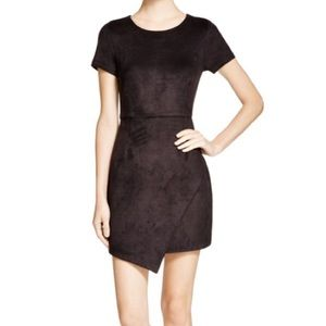 Aqua Faux Suede dress SIZE SMALL BLACK